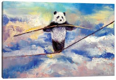 Panda Tightrope Canvas Print #MCR92