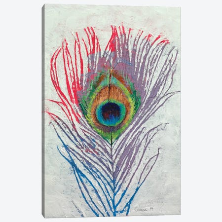 Peacock Feather Canvas Print #MCR93} by Michael Creese Canvas Art Print