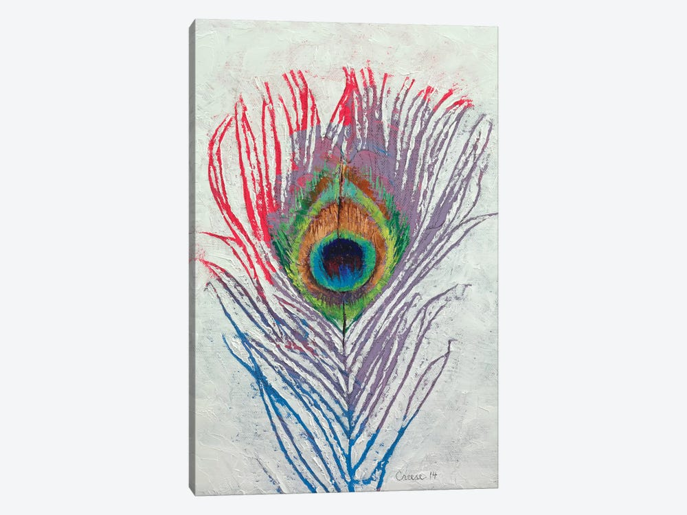 Peacock Feather by Michael Creese 1-piece Canvas Print