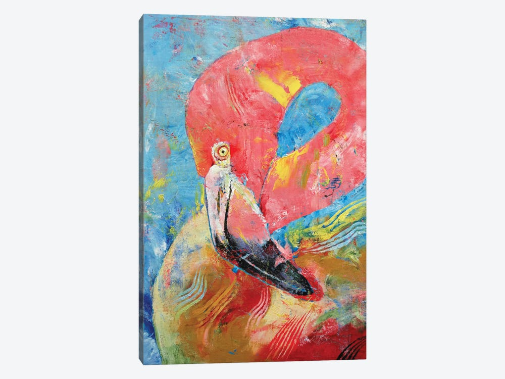Pink Flamingo by Michael Creese 1-piece Art Print