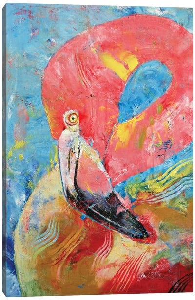Pink Flamingo Canvas Art Print