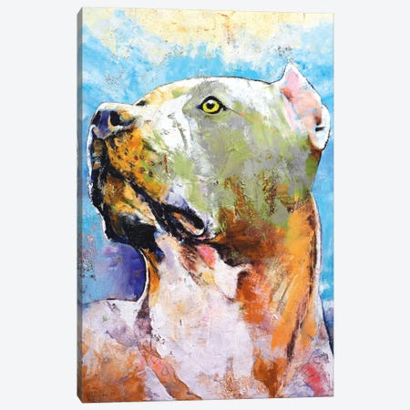 Pit Bull Canvas Print #MCR98} by Michael Creese Art Print