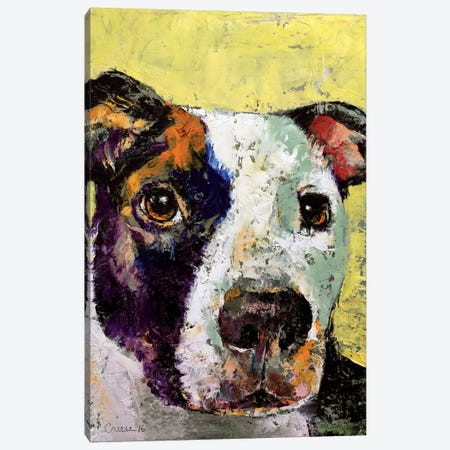 Pit Bull Portrait Canvas Print #MCR99} by Michael Creese Art Print