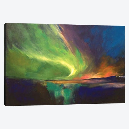 Aurora Borealis Canvas Print #MCR9} by Michael Creese Canvas Wall Art