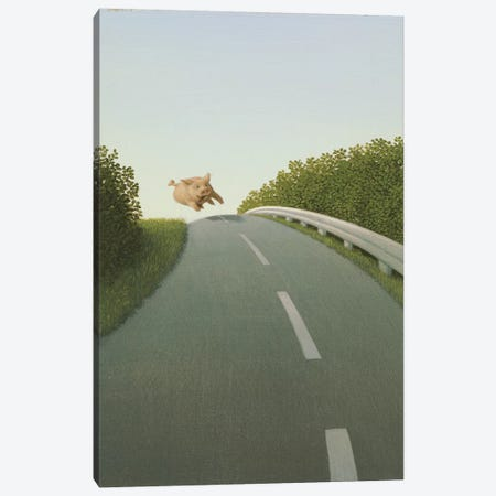 Highway Pig Canvas Print #MCS13} by Michael Sowa Canvas Artwork