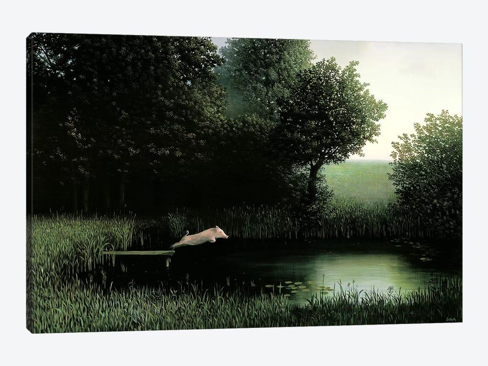Koehler's Pig by Michael Sowa 1-piece Canvas Wall Art