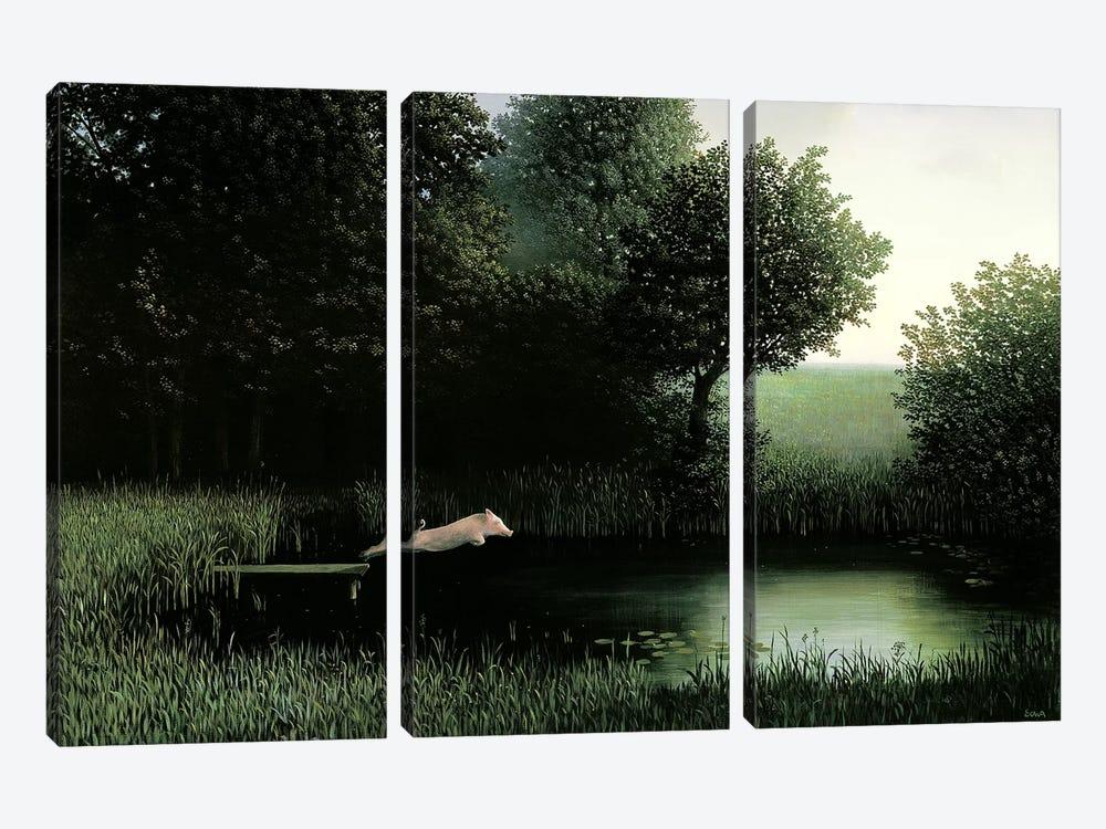Koehler's Pig by Michael Sowa 3-piece Canvas Artwork
