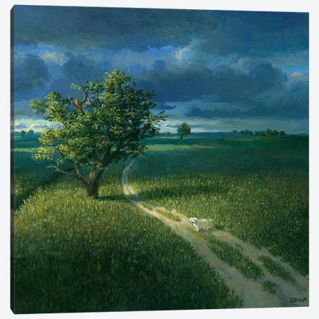 Lonely 3-Piece Canvas #MCS18} by Michael Sowa Canvas Art