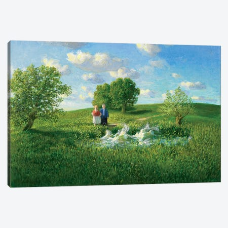 Restless Pond Canvas Print #MCS19} by Michael Sowa Canvas Artwork