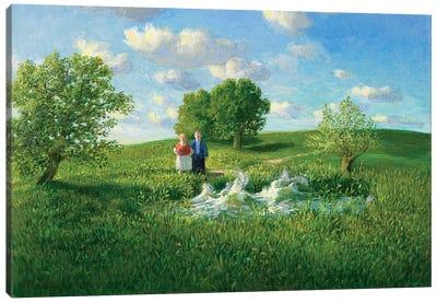 Restless Pond Canvas Art Print