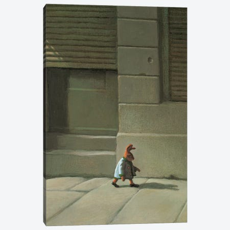 Street Rabbit Canvas Print #MCS23} by Michael Sowa Canvas Art Print