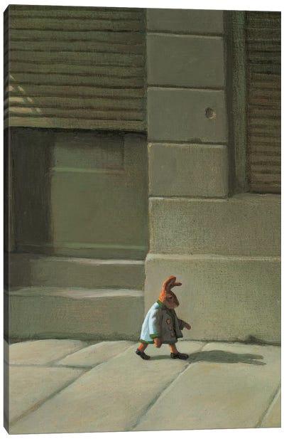 Street Rabbit Canvas Art Print