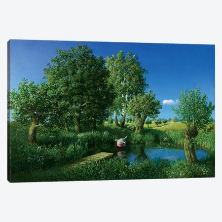 Summer (Otto's Eleven) Canvas Print #MCS24} by Michael Sowa Canvas Wall Art