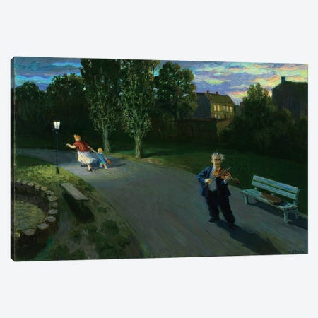 The Devil's Violinist Canvas Print #MCS27} by Michael Sowa Canvas Artwork