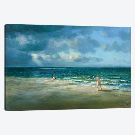 The Embarrassing Performances of Monet's Father 3-Piece Canvas #MCS28} by Michael Sowa Canvas Print