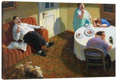 The Talk Canvas Art Print