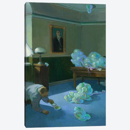 The Unsolved Cases of the FBI Canvas Print #MCS34} by Michael Sowa Canvas Print