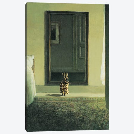 Tiger Rabbit Canvas Print #MCS36} by Michael Sowa Canvas Print