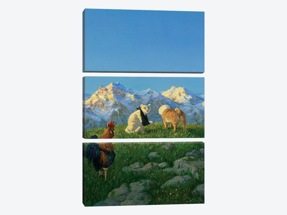 Untitled by Michael Sowa 3-piece Canvas Artwork