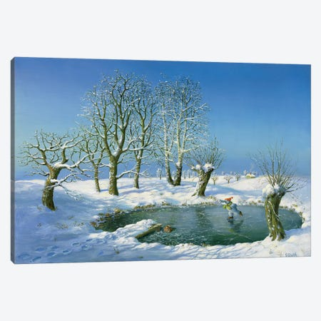 Winter (Otto's Eleven) Canvas Print #MCS39} by Michael Sowa Canvas Art