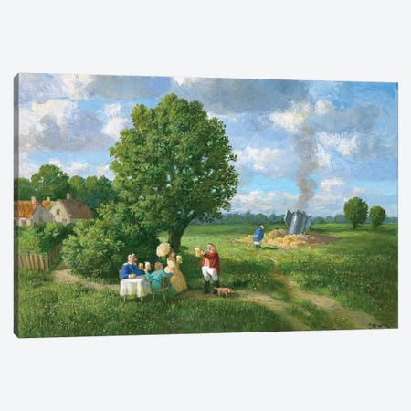 At the Stage Near Budweis Canvas Print #MCS3} by Michael Sowa Canvas Print