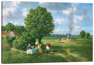 At the Stage Near Budweis Canvas Art Print