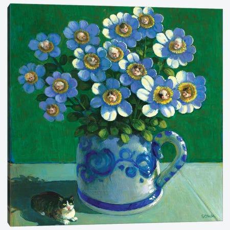 Bouquet Of Envy Canvas Print #MCS5} by Michael Sowa Canvas Artwork