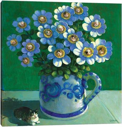 Bouquet Of Envy Canvas Art Print