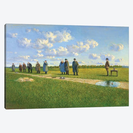 Cat Race In The Lausitz, 1910 Canvas Print #MCS6} by Michael Sowa Canvas Art
