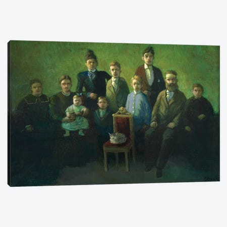 Difficult Family Canvas Print #MCS8} by Michael Sowa Art Print