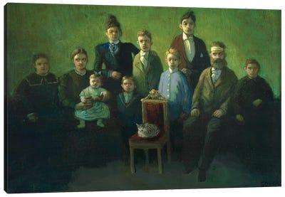 Difficult Family Canvas Art Print