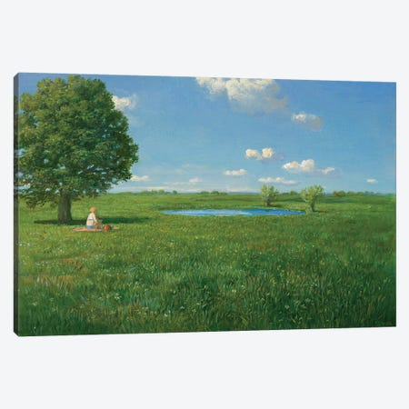 First Bath in Spring Canvas Print #MCS9} by Michael Sowa Canvas Art Print