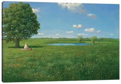 First Bath in Spring Canvas Art Print