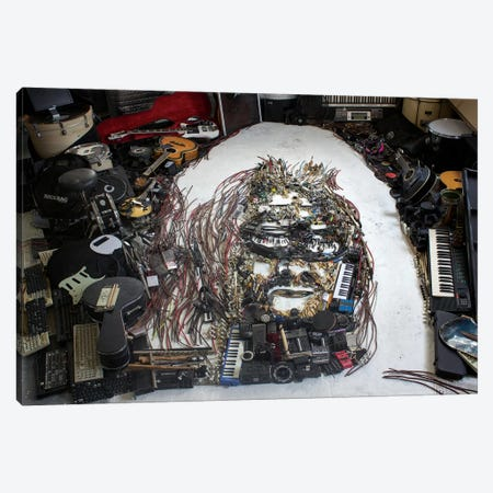 Hermeto Pascoal 3D Portrait 3-Piece Canvas #MCT10} by Mr. Copyright Canvas Art Print