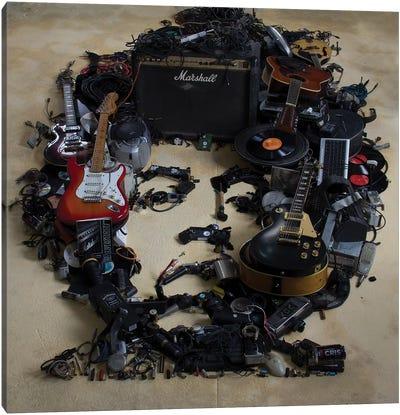 Jimi Hendrix 3D Portrait Canvas Art Print