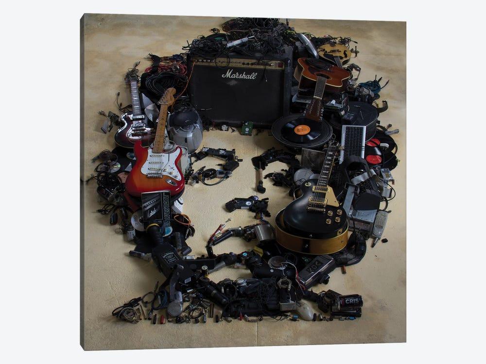 Jimi Hendrix 3D Portrait by Mr. Copyright 1-piece Canvas Print