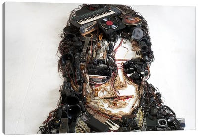 Michael Jackson 3D Portrait Canvas Art Print