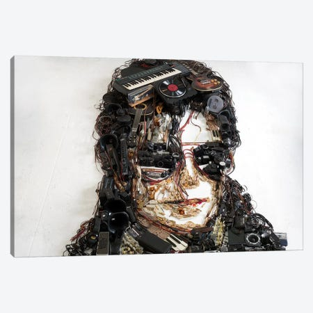 Michael Jackson 3D Portrait Canvas Print #MCT17} by Mr. Copyright Canvas Wall Art