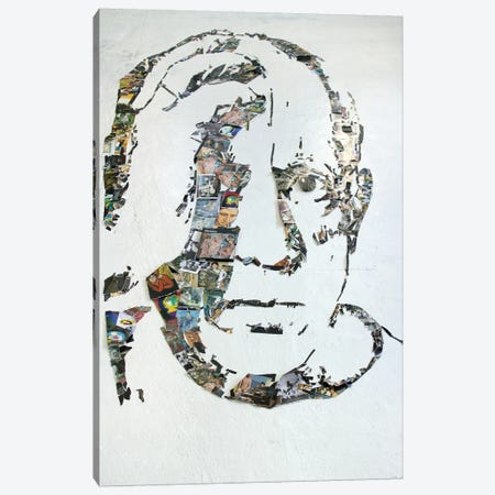 Pablo Picasso 3D Portrait Canvas Print #MCT19} by Mr. Copyright Art Print