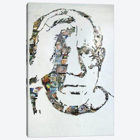 Pablo Picasso 3D Portrait Canvas Print #MCT19} by Mr. Copyright Art Print