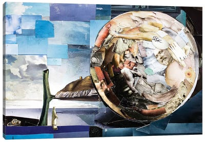 Sphere Of Transcendence Collage Canvas Art Print