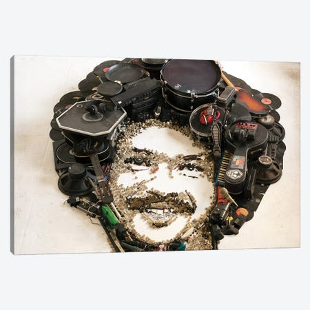 Tim Maia 3D Portrait Canvas Print #MCT24} by Mr. Copyright Canvas Print