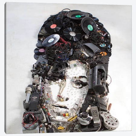 Amy Winehouse 3D Portrait Canvas Print #MCT3} by Mr. Copyright Canvas Art