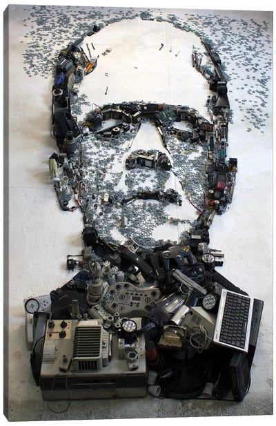 Boris Karloff As Frankenstein's Monster 3D Portrait Canvas Art Print