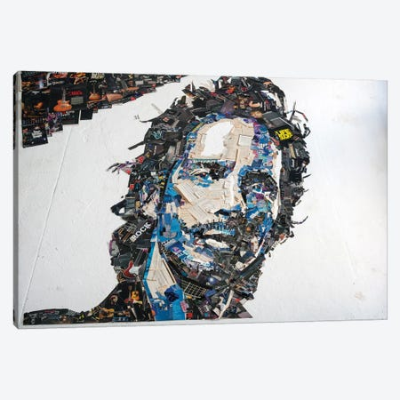 Chris Cornell 3D Portrait Canvas Print #MCT6} by Mr. Copyright Art Print