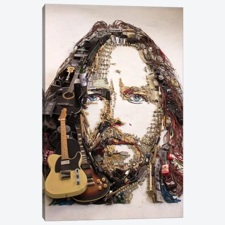 Eddie Vedder 3D Portrait Canvas Print #MCT7} by Mr. Copyright Canvas Art Print