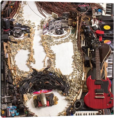 Frank Zappa 3D Portrait Canvas Art Print