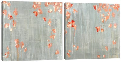 Morning Dew Diptych Canvas Art Print