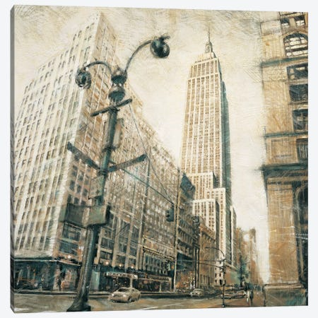 Emp St Bldg fr MadisonAve 3-Piece Canvas #MDA10} by Matthew Daniels Canvas Art Print