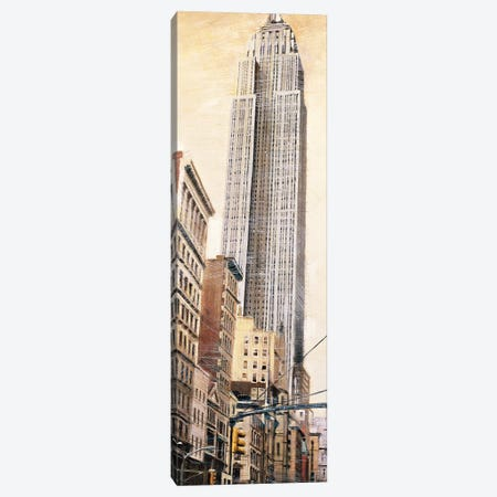 The Empire State Building 3-Piece Canvas #MDA16} by Matthew Daniels Canvas Wall Art